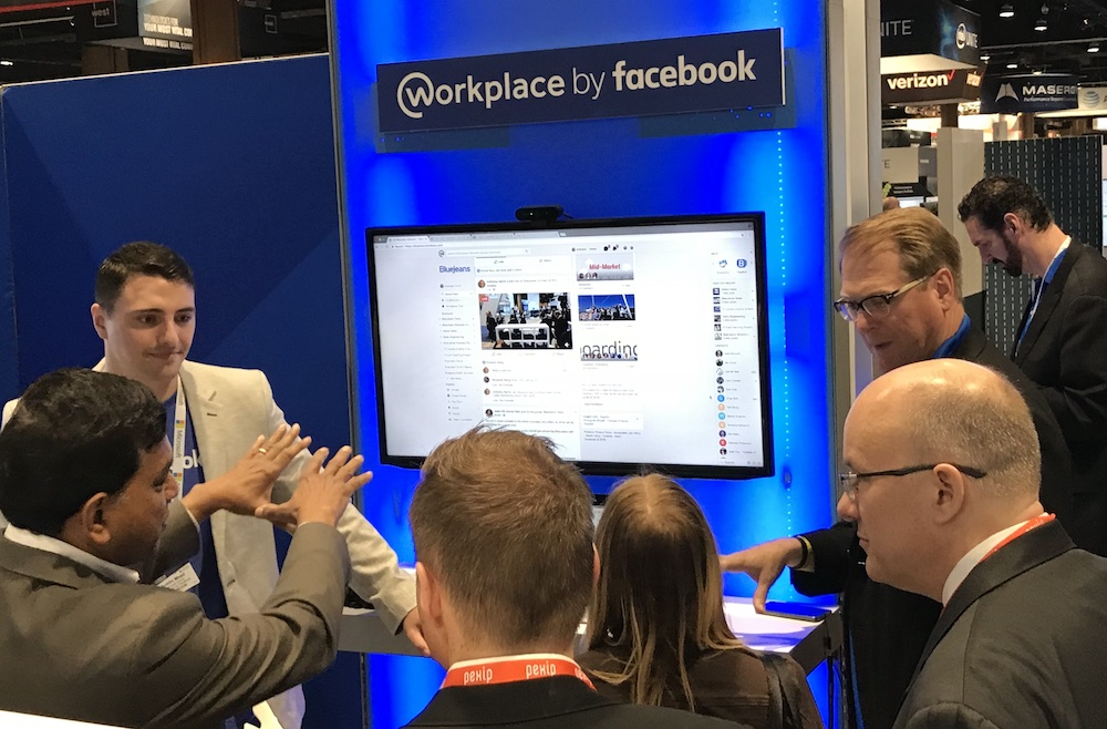 Workplace by Facebook at BlueJeans Booth