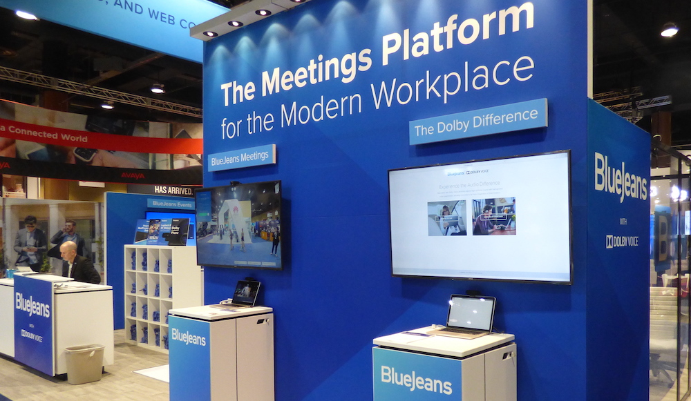 Dolby at BlueJeans Booth