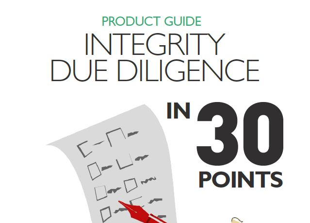 Integrity due diligence in 30 points
