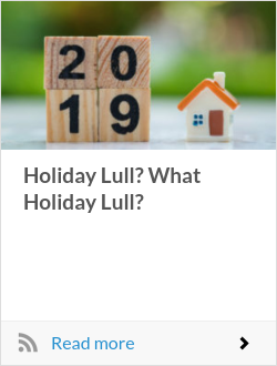 Holiday Lull? What Holiday Lull?