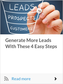 Generate More Leads With These 4 Easy Steps
