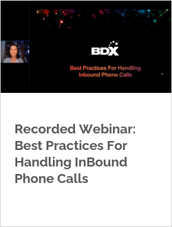 Recorded Webinar: Best Practices For Handling InBound Phone Calls