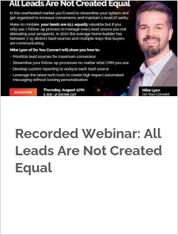 Recorded Webinar: All Leads Are Not Created Equal