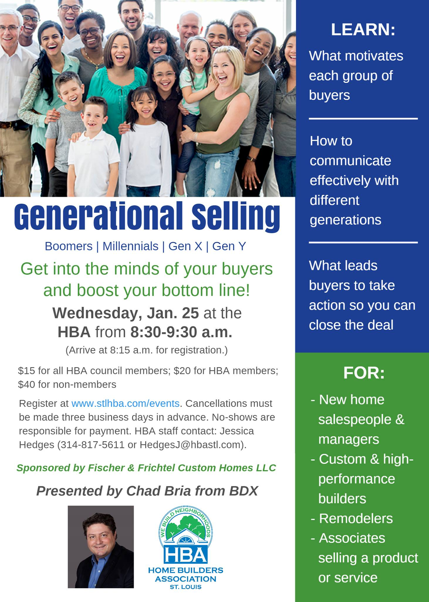 BDX Will Be Speaking About Generational Selling At St. Louis HBA