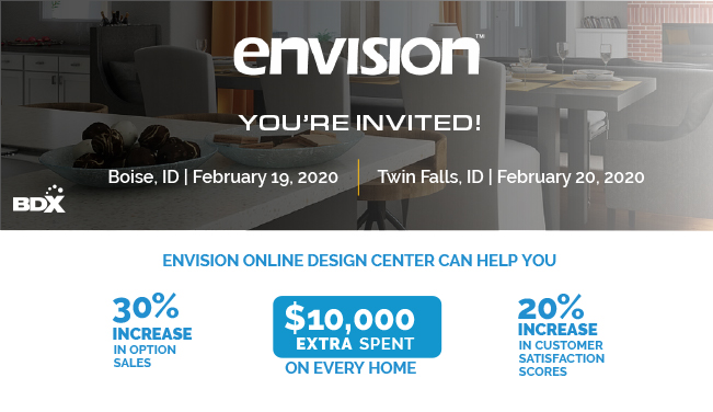 BDX Is Taking the Envision Road Show To Idaho To Teach Builders About The Online Design Center Advantages