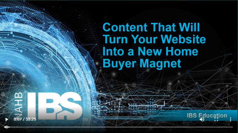 Watch To Learn How To Use Your Website As A New Home Buyer Magnet