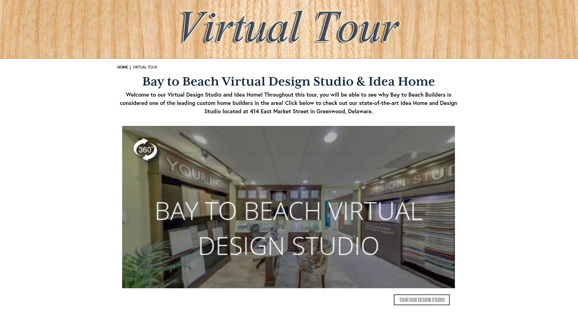 Bay to Beach Builders has leveraged their VR tours for both their experience center and online.