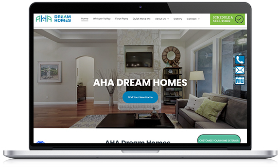 AHA Dream Homes utilizes Utour, allowing shoppers to tour models 24/7