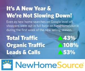 NewHomeSource reports record-breaking traffic and the year has only started.