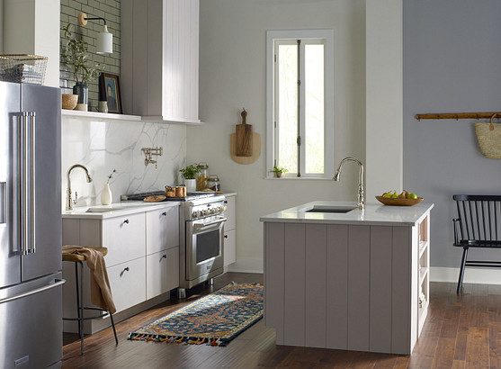 How bathroom and kitchen decor style has evolved over the years.