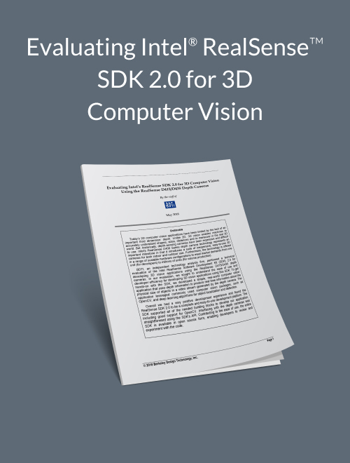 Evaluating Intel's RealSense SDK 2.0 for 3D Computer Vision Using the RealSense D415/D435 Depth Cameras