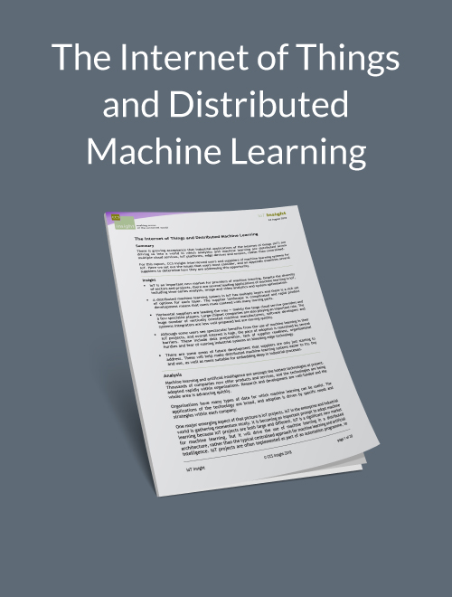 The Internet of Things and Distributed Machine Learning