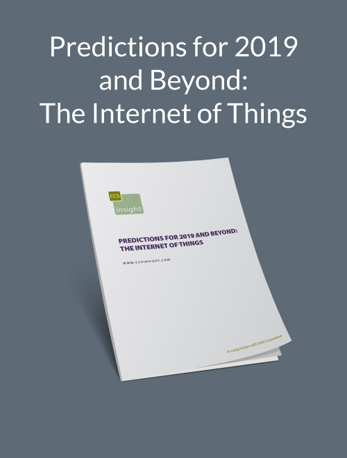 Predictions for 2019 and Beyond: The Internet of Things (CS TEST)
