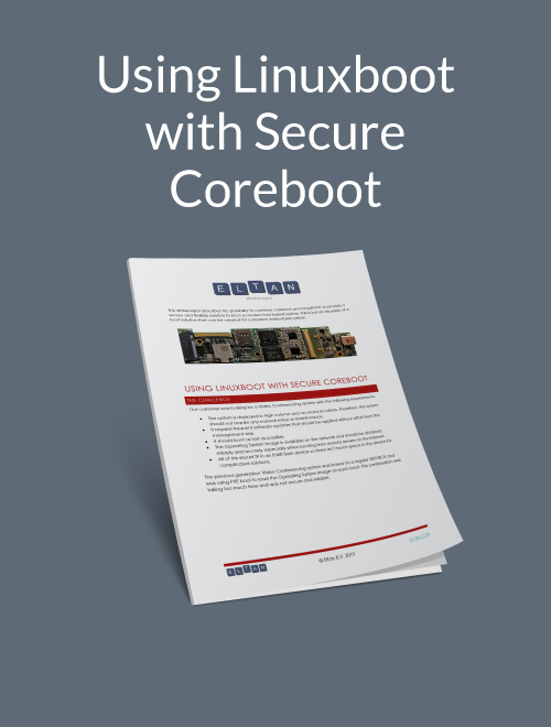 Using LinuxBoot with Secure Coreboot