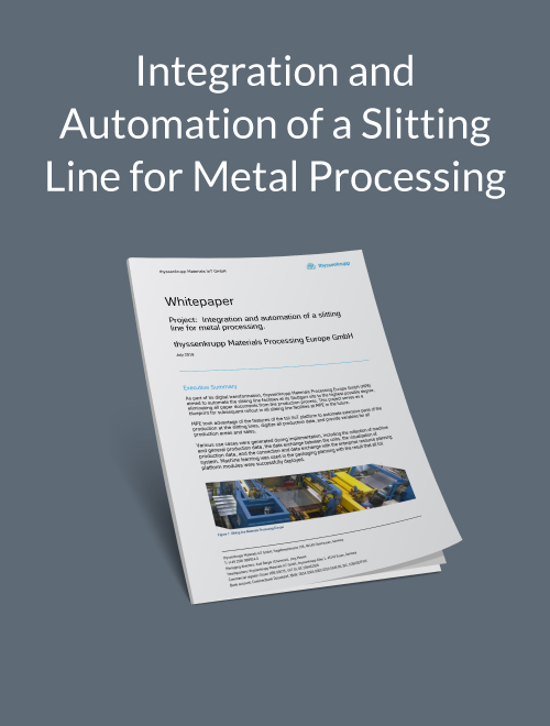 Integration and automation of a slitting line for metal processing