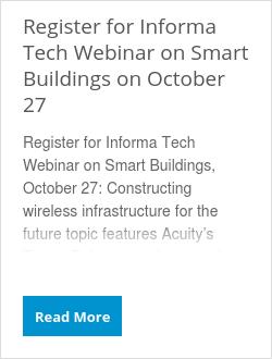 Register for Informa Tech Webinar on Smart Buildings on October 27