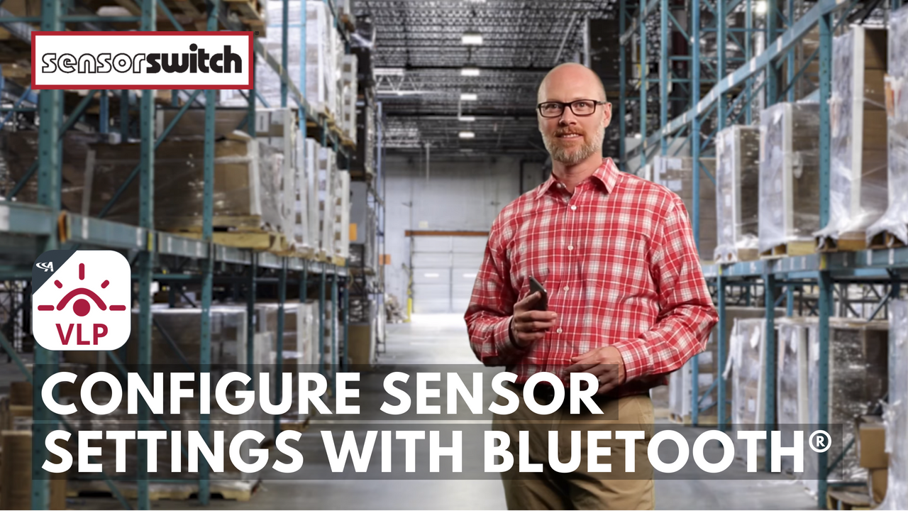 Sensor Switch VLP Configure Sensor Settings with Bluetooth