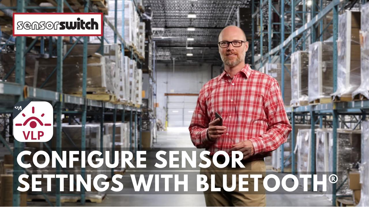 Sensor Switch VLP Configure Sensor Settings with Bluetooth
