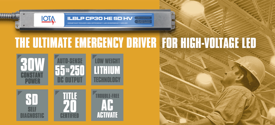 IOTA ILBLP CP30 HE SD HV 30W Emergency LED Driver