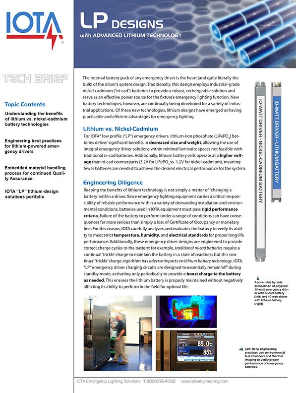 IOTA Tech Brief on Low Profile Designs
