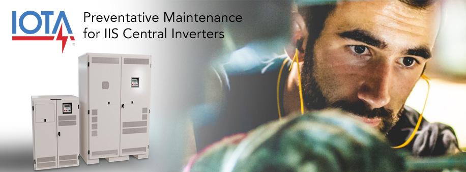 IOTA IIS Central Inverter Preventative Maintenance