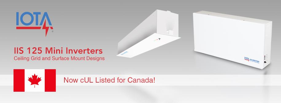 IOTA IIS 125 inverter for Canada