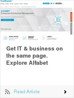 Get IT & business on the same page. Explore Alfabet