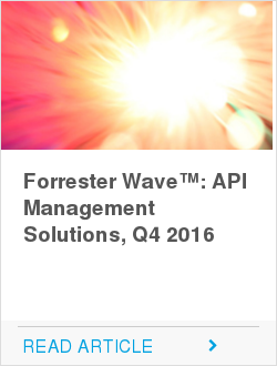 Forrester Wave™: API Management Solutions, Q4 2016