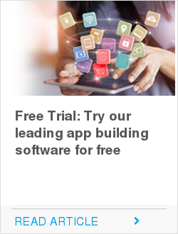 Free Trial:  Try our leading app building software for free