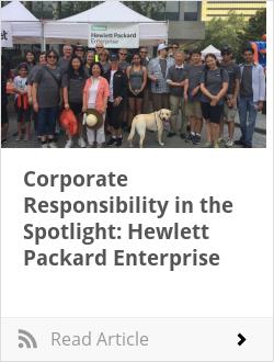 Corporate Responsibility in the Spotlight: Hewlett Packard Enterprise