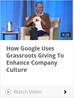 How Google Uses Grassroots Giving To Enhance Company Culture