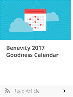 Benevity 2017 Goodness Calendar