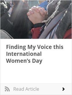 Finding My Voice this International Women's Day