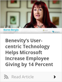 Benevity's User-centric Technology Helps Microsoft Increase Employee Giving by 14 Percent
