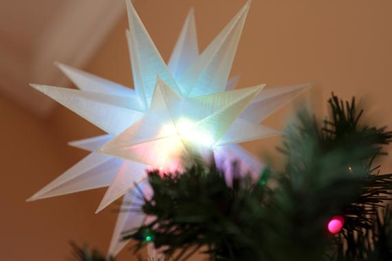 Tree topper made with Adafruit Trinket. Image by Rick Winscot, via Adafruit.
