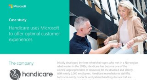 Handicare Uses Microsoft to Offer Optimal Customer Experiences