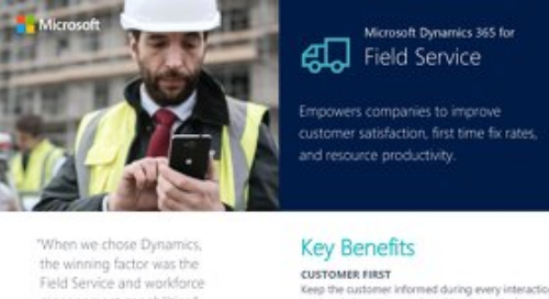 Your Quickstart Guide to Dynamics 365 for Field Service