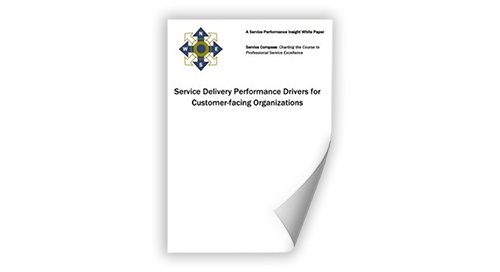 SPI Research: Service Delivery Performance Drivers for Customer-Facing Organizations