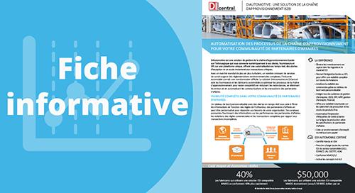 DiAutomotive, solution de la chaîne d'approvisionnement B2Bi