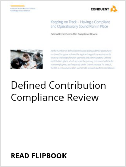 Defined Contribution Compliance Review