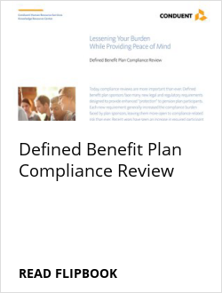 Defined Benefit Plan Compliance Review