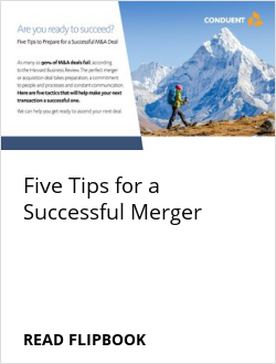 Five Tips for a Successful Merger