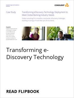 Transforming e-Discovery Technology