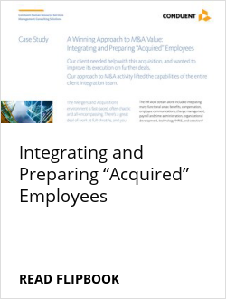 "Integrating and Preparing ""Acquired"" Employees"