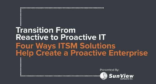 SunView: Transition From Reactive to Proactive IT