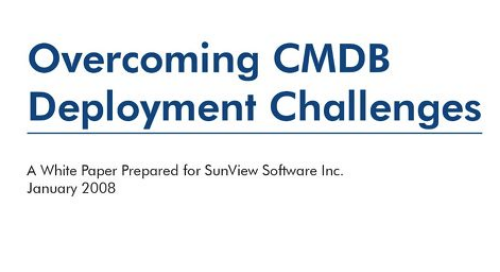 Overcoming CMDB Deployment Challenges
