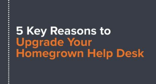 5 Reasons to Upgrade Your Homegrown Helpdesk