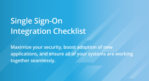 Single-Sign On Checklist