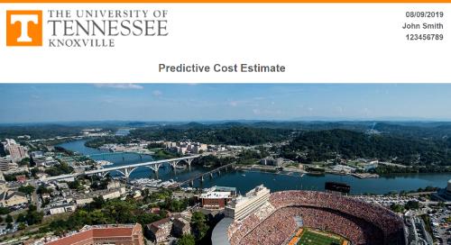 Acceptance Letter with Predictive Cost Estimate