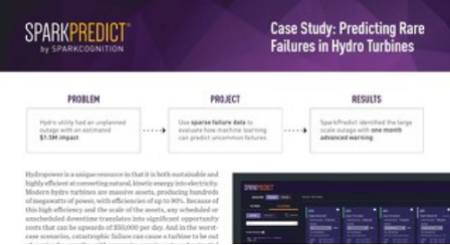 Case Study: Predicting Rare Failures in Hydro Turbines